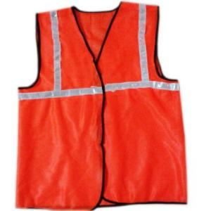 Uco Safe 1 Inch Reflective Tape Orange 65 GSM Cloth Safety Jackets, US-1CO (Pack of 10)