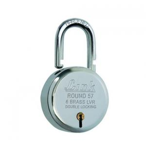 Link 57mm Brass Levers Steel Round Padlock with 3 Keys, L57-LRPL-57