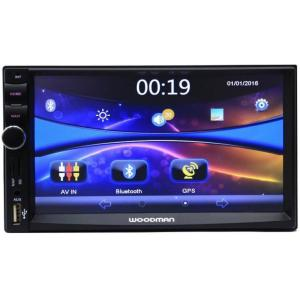Woodman Double Din with GPS Navigation System/Bluetooth/USB Car Stereo