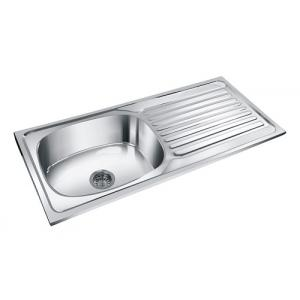 Deepali Single Bowl Kitchen Sink With Drain, DR 205A, Overall Size: 42x20 Inch