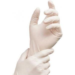 Rensow White Powder Free Latex Examination Gloves, REN-WHT-04 (Pack of 100)