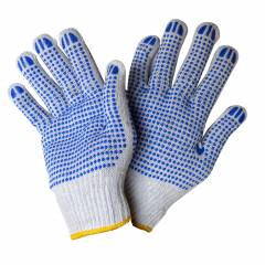 Sai Safety White Double Side Dotted Gloves (Pack of 50)
