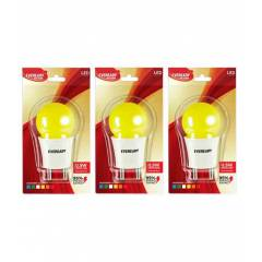 Eveready 0.5W Yellow T Deco LED Plug & Play Bulbs (Pack of 3)