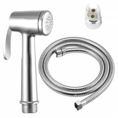 Goonj Health Faucet Complete Set Brass Heavy Series With Flexible Tube 1 Meter and Wall Hook, GHF-2328-1