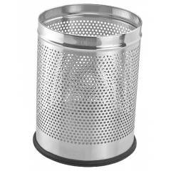 SS Ware 5 Litre Stainless Steel Perforated Open Dustbin, Size: 8x12 in