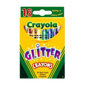 Crayola 16 Pieces Glitter Crayons Set, 5237160011