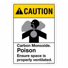 Safety Sign Store Caution: Carbon-Monoxide Sign Board, SS121-A4V-01