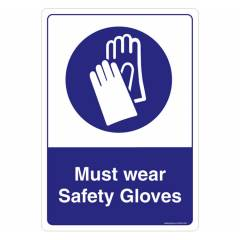 Safety Sign Store Must Wear Safety Gloves Sign Board, SS508-A3V-01
