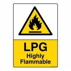 Safety Sign Store LPG Highly Flammable Sign Board, CW420-A4AL-01