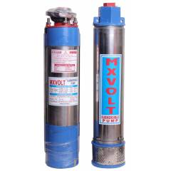 MXVOLT 1 HP 4 Inch Oil Filled Submersible Pump with Control Panel