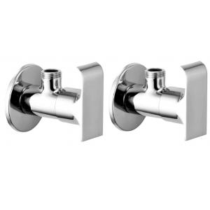 Snowbell Swift Brass Chrome Plated Angle Faucet (Pack of 2)