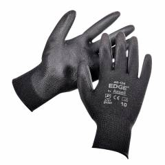 Ansell Black & Grey Edge PU Coated Hand Gloves (Pack of 10)
