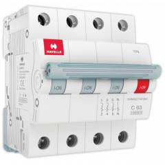Havells Euro-II 63A TPN C Curve MCB, DHMGCTNF063