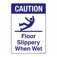 Safety Sign Store Caution: Floor Slippery When Wet Sign Board, GS868-A5AL-01