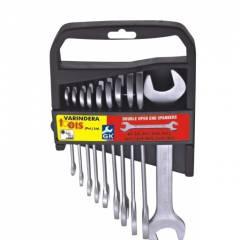 GK Art-501E Double Open Ended Cold Stamp Spanner 12 Pieces Set