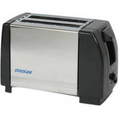 Euroline EL 840 Black & Silver 2 Slice Pop Up Toaster