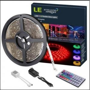 Solo RGB LED Strip Light Set with Changer, Remote & Adapter, 5m (Pack of 4)