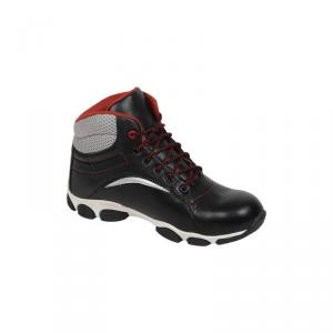 Kavacha S4 Black Steel Toe Safety Shoes, Size: 6