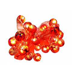 VRCT 5W B-22 Red & Golden Silky Ball LED String Light, HD-435a