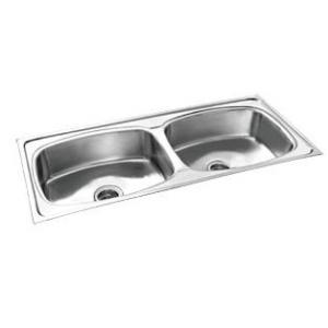 Camry CS-DB-4520-10 Stainless Glossy Steel Double Bowl Kitchen Sink, Steel Grade: AISI 304