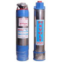 MXVOLT 1 HP 4 Inch Oil Filled Single Phase Borewell Submersible Pump