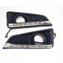 Autogold Fog Lamp Assembly DRL LED for Honda City iDTEC, AG428