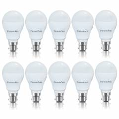 FortuneArrt 7W White B-22 LED Bulb(Pack of 10)