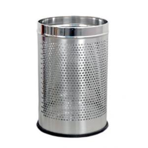 SS Silverware 7 Litre Stainless Steel Perforated Open Dustbin