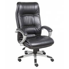 High Living Exclusive Black Leatherette High Back Office Chair