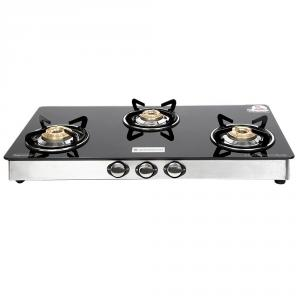 Wonderchef Zest 3 Burner Glass Top Gas Stove