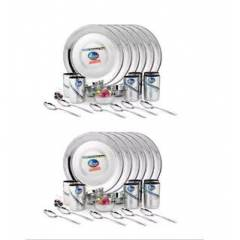 Airan 48 Pieces Stainless Steel Silver Dinner Set