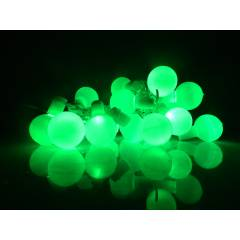 Tucasa Florocent Green LED Ball String Light, DW-338
