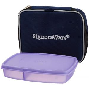 Signoraware Violet 750 ml New Classic Small Lunch Box with, 528