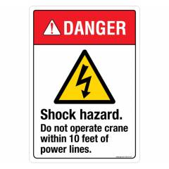 Safety Sign Store Danger: Shock Hazard Sign Board, SS316-A4PC-01