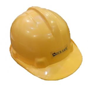 Nova Safe Yellow Hard Safety Helmet, Max-02 (Pack of 10)