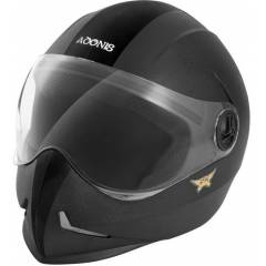 Steelbird Adonis Motorbike Black Full Face Helmet, Size (Medium, 580 mm)