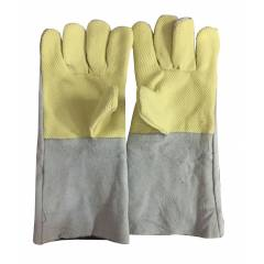 Ufo 290g Palm Kevlar Heat Resistant Yellow Safety Gloves, Size: L