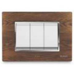 Cona GlasGlow Wooden Texture Nuwood 1 Module Switch Plate, WM1101 (Pack of 10)