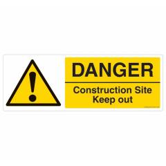Safety Sign Store Danger: Construction Site, Keep Out Sign Board, CW201-2159AL-01