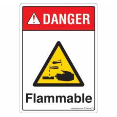 Safety Sign Store Danger: Flammable Sign Board, ST303--A7PC-01, (Pack of 10)