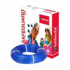 Goldmedal 90m 4 Sq mm Blue FR PVC Wire