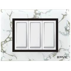 B-Five Marvel 8 Module Square Cover Plate, B-066M (Pack of 10)