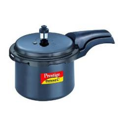 Prestige Deluxe Plus 3 Litre Hard Anodized Outer Lid Pressure Cooker, 20350