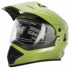 Steelbird Yamaha Green Motocross Helmet, Size (Large, 600 mm)