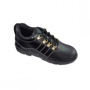 Aqua AQ003 Low Ankle Steel Toe Black Safety Shoes, Size: 10