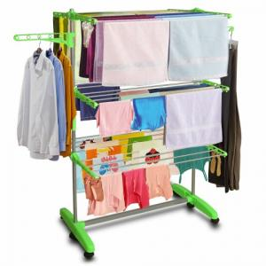 Kawachi I25 Mild Steel Cloth Drying Stand with Plastic Laundry Hanger