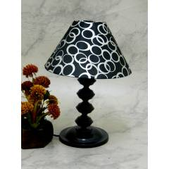Tucasa Contemporary Table Lamp with Black Silver Shade, LG-743