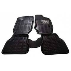 Oscar 3D Black Foot Mat For Jeep Compass (Set of 5)