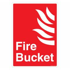 Safety Sign Store Fire Bucket Sign Board, FE536-A4PC-01