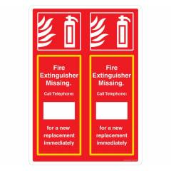Safety Sign Store Double Fire Extinguisher Sign Board, FE545-A2AL-01